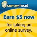 Surveyhead button $10 FREE for you + highest paying survey sites!