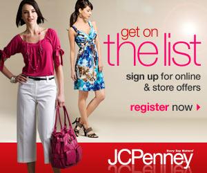 JC Penney savings list