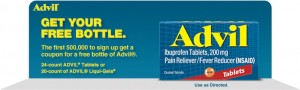 advil coupon 300x90 Advil coupon for free bottle of Advil!