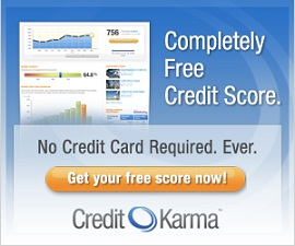 Credit Karma FREE credit score {I love this site! No credit card needed}!
