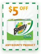 Take $1 off one Bounty Paper Towel product 4-ct or larger. Limit ONE coupon per purchase of products and quantities stated. You may pay sales tax. Not valid in Puerto Rico. Limit of one coupon per household. Digital Coupons and paper coupons may not be combined on the purchase of a single item.