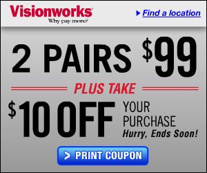 Visionworks was founded in and formerly was known as Eye Care Centers of America. Today Visionworks offers its customers almost 30 years of experience in eye care industry and provides the highest quality services and production.