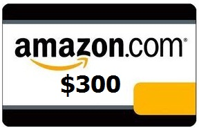 300 amazon 3 $300 Amazon card giveaway: Win $300 Amazon gift card!