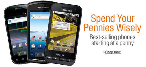 amazon penny phone sale LAST DAY! 1 cent phones + free activation!