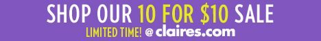 Claires sale 90% off! Claires 10 for $10 sale {jewelry, gloves, charms, headbands, bows, body spray & more $1 each}!