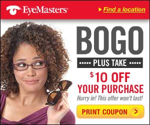 Eyemart Express provides designer frames and prescription eyeglasses. Visit site for eyeglasses coupons on progressive lens, sun glasses, frames and more.
