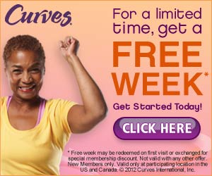 Curves LIMITED NUMBER, go now! One week FREE at Curves Workout Centers!