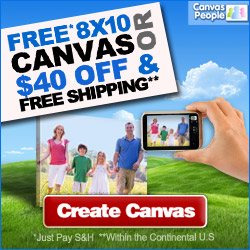canvas people FREE $50 8x10 Custom made Photo Canvas Print {great grandparents gift}!