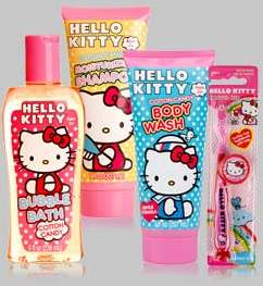 FREE 4 piece Hello Kitty bath set with free shipping Coupons