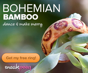 Bohemian Bamboo Ring1 Free Bohemian Bamboo Rings {$27 value} + FREE shipping (& free $10 credit)!
