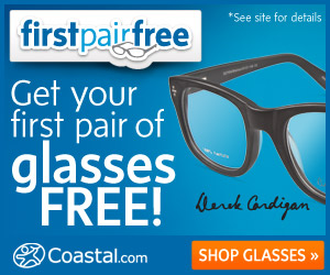 Coastal Contacts first pair free FREE pair of prescription eyeglasses {I love mine}!