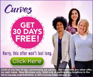 Curves 30 days *HOT* One month FREE at Curves {for first 1,000,000}!