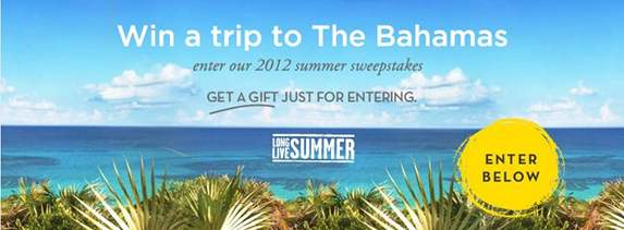 ONLY A FEW DAYS LEFT TO ENTER! Win a FREE Trip to the Bahamas!