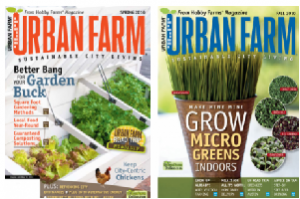 urbanfarm 300x199 Urban Farm Magazine only $4.50 (1 Year Subscription)