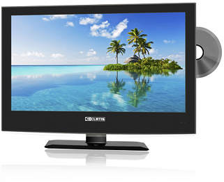 FEW HOURS LEFT! 32 inch HDTV Flat Screen TV with Built in DVD Player
