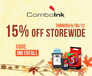 comboink 15 off 300 Only 2 days left, hurry! $2 Printer ink!