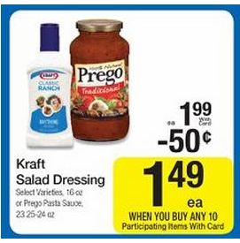 Kraft Dressing Coupons