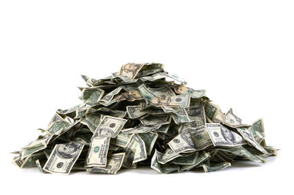 pile of cash is unused facebook GIVEAWAY! Win 1 of 12 iPad minis or $15,000!