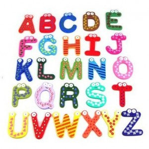 fridgemagnets 300x300 PRICE DROP! 26 Alphabet Wooden Magnets only $2.90 SHIPPED!