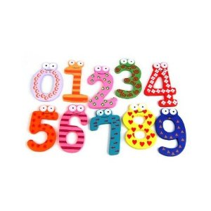 magnetic numbers Fun Colorful Magnetic Wooden Numbers only $1.50 SHIPPED!
