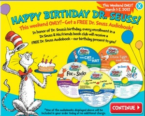 dr seuss book club Target FREE samples: new free sample just added!
