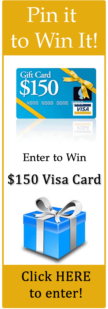 pin it to win it giveaway Win $150 Visa Gift Card!
