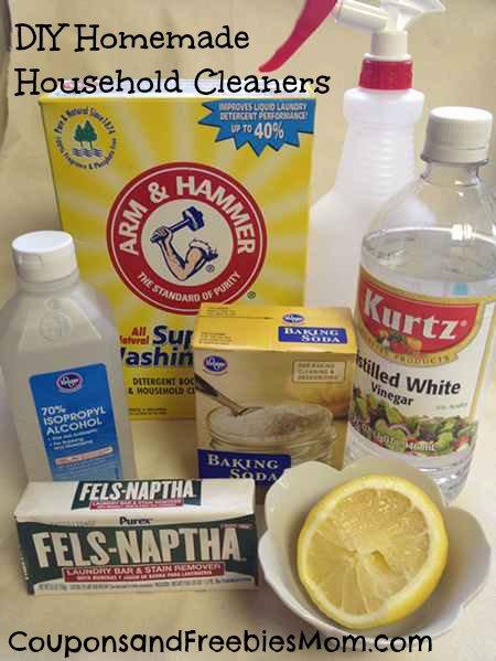 DIY Homemade Cleaners Ingredients