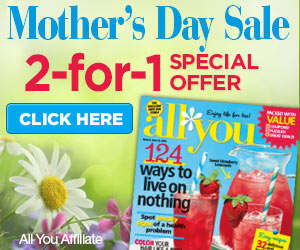 mothers day all you MONEY MAKER! $1 All You magazine: each issue has $50   $100 worth of free coupons! Great gift!