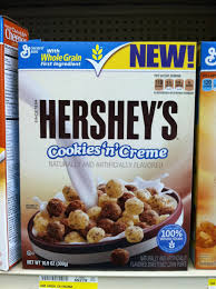 Hersheys Cookies and Cream Cereal Hersheys Cookies & Cream Cereal Only $1.24!