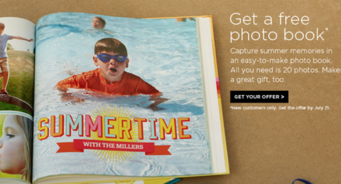 Shutterfly: FREE 8×8 Photo Book for New Customers!