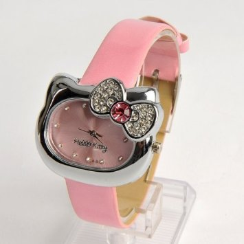 41w0Hm96nZL. SY355 ADORABLE Hello Kitty Wrist Watch $4.64 SHIPPED!
