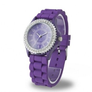 purplegelwatch 300x300 Purple Silicone Watch Only $2.49!