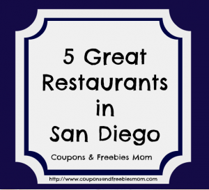 5 Great Restaurants in San Diego