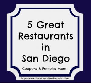 5 Great Restaurants in San Diego