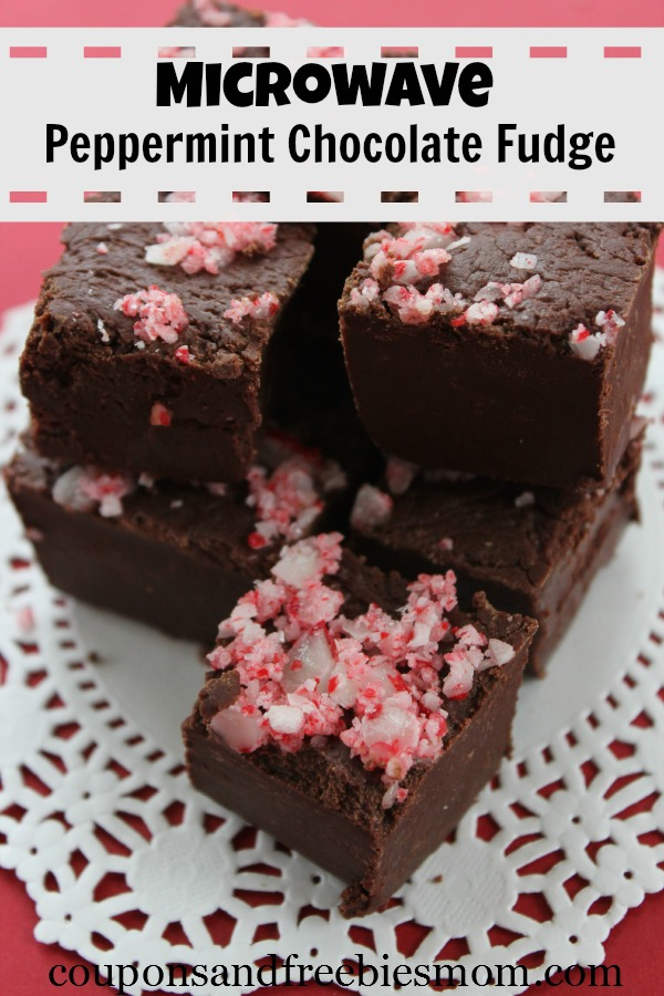 Microwave Peppermint Chocolate Fudge - Coupons and Freebies Mom