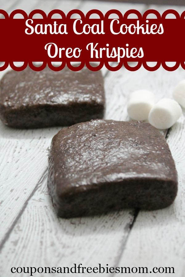 Santa Coal Cookies Oreo Krispies Recipe Coupons And Freebies Mom