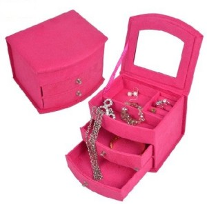 Hot Pink 3Layer Jewelry Box Only 1299 Coupons and Freebies Mom