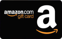 blank amazon gift card black