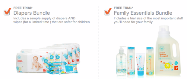 honest company bundle checkbox Hurry! Free Laundry Soap, Lotion, Diapers, Wipes, Shampoo + Hand Soap!