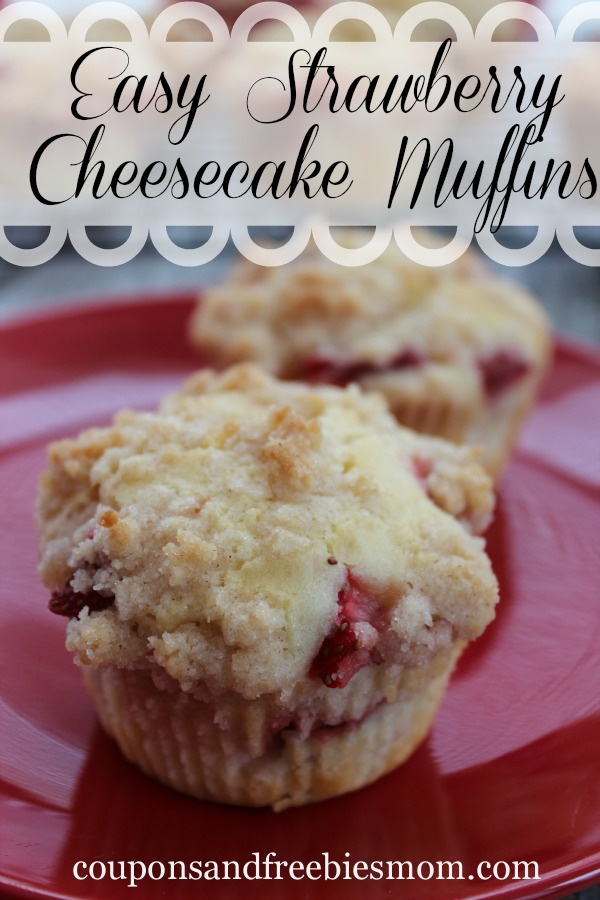Easy Strawberry Cheesecake Muffins