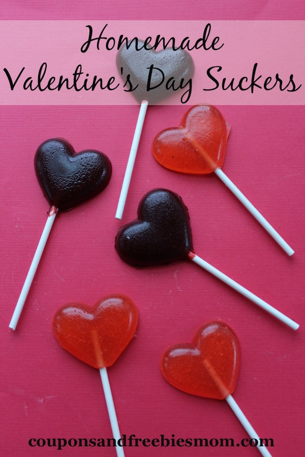 Homemade Valentines Day Suckers