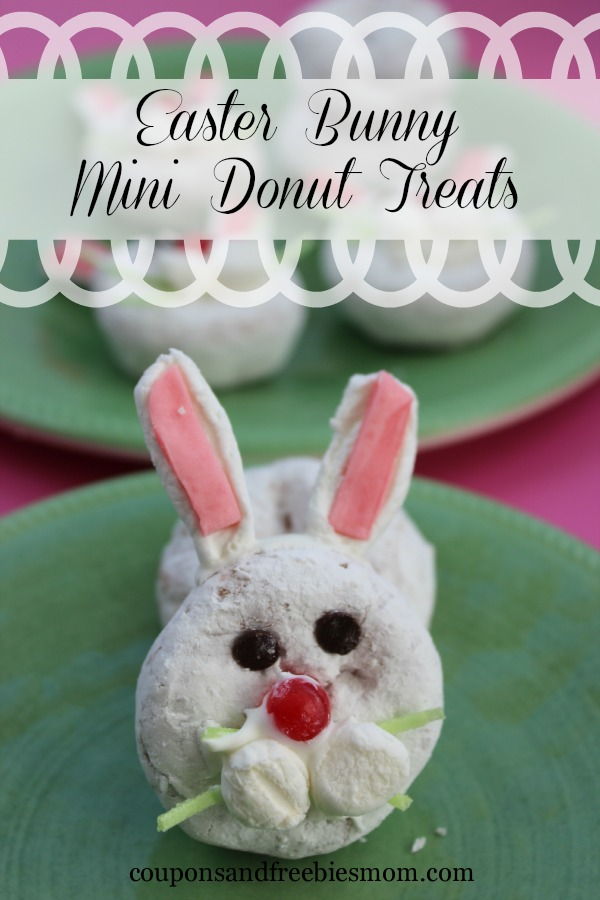 Easter Bunny Mini Donut Treats