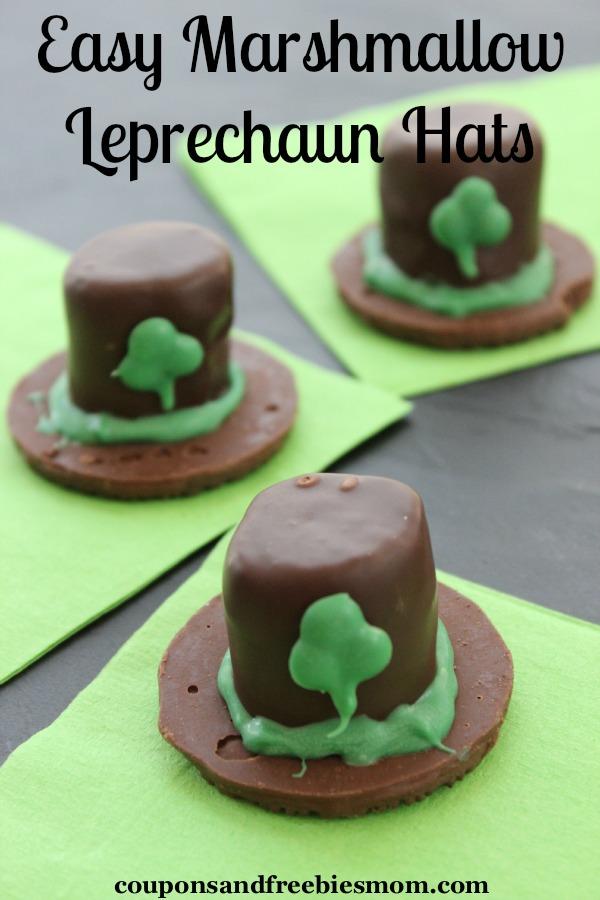 Easy Marshmallow Leprechaun Hats