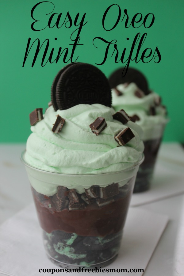 Easy Oreo Mint Trifles