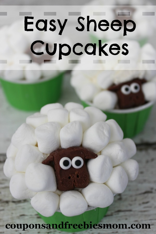 Easy Sheep Cupcakes