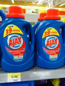 Ajax Laundry Walmart 225x300 Ajax Detergent only $0.50 at Walmart!