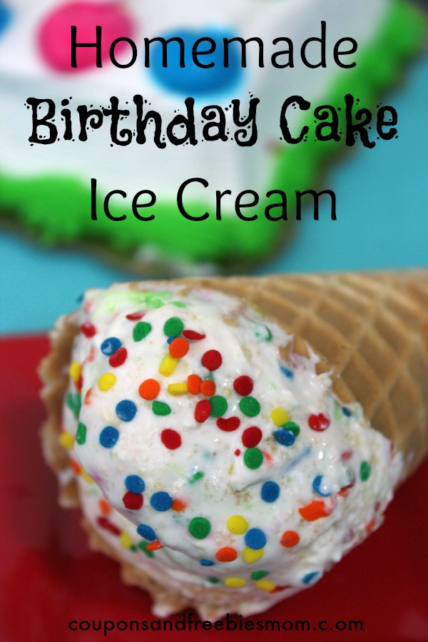 Homemade Birthday Cake Ice Cream Homemade Birthday Cake Ice Cream