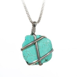 Turquoise Pendant Necklace 300x300 Tibetan Silver Slipada Turquoise Pendant Necklace Only $4.84 Shipped!
