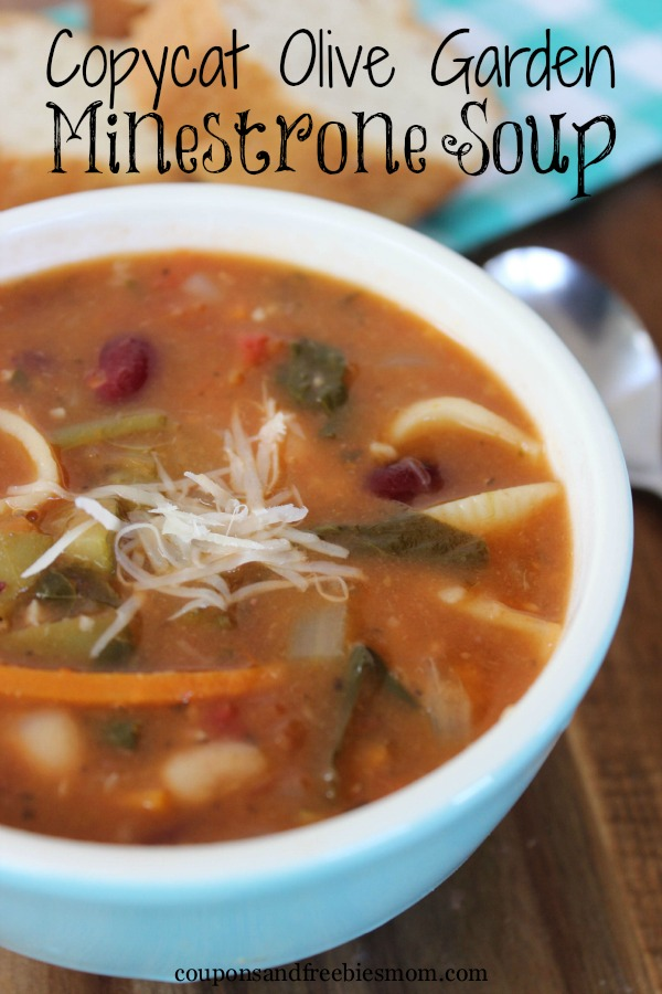 Copycat olive garden minestrone soup coupons and - Minestrone soup olive garden recipe ...