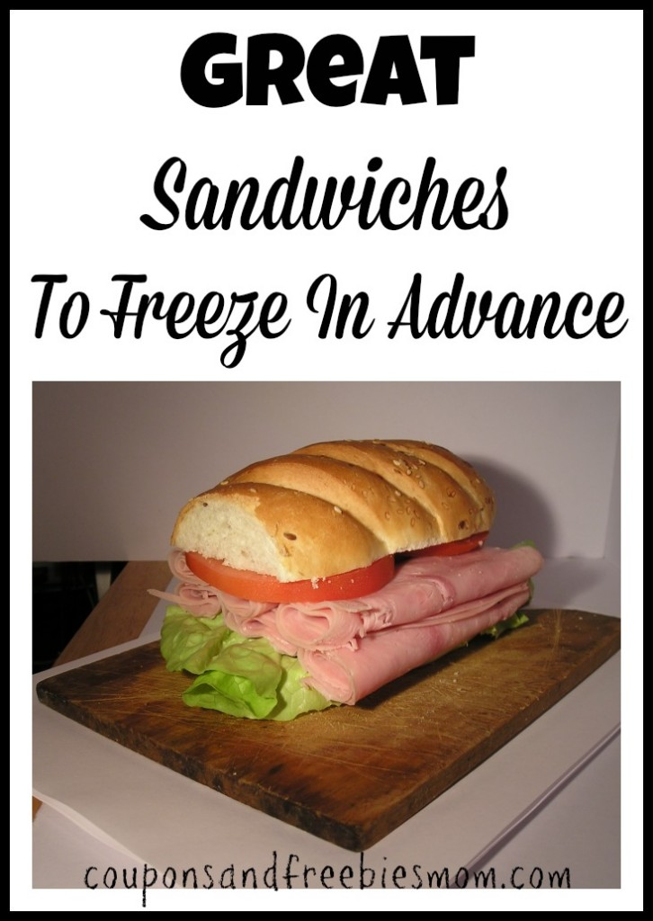 Great Sandwiches To Freeze In Advance